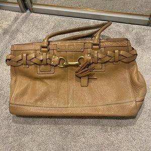 Tan Coach handbag purse